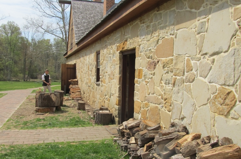 The distillery building at the George Washington Distillery at Mount Vernon in Virginia, near Washington DC.