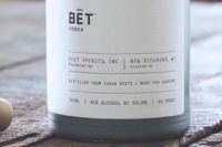 BET Vodka is a sugar beet vodka from the Midwest USA
