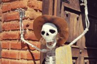The welcoming skeleton at the Espolon tequila distillery in Jalisco, Mexico