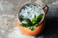 A gin julep cocktail from the 100 gin cocktails recipe book from Sipsmith gin